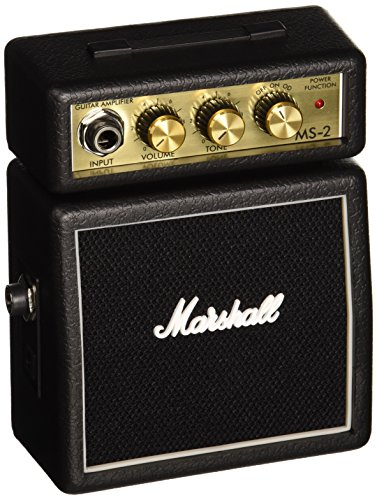Marshall MS-2 - Amplificador para guitarra (2W, 6.3 mm), color negro